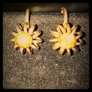 Jewelry - VINTAGE AMBER&14KT ROSE GOLD SCREW BACK EARRINGS